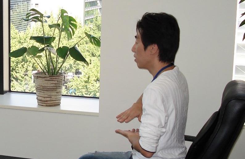 「大阪での研修風景。頭の中は仕事のことばかり考えていた」